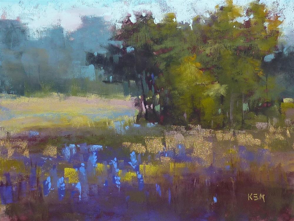 """Reflections on a Plein Air Workshop"" original fine art by Karen Margulis"