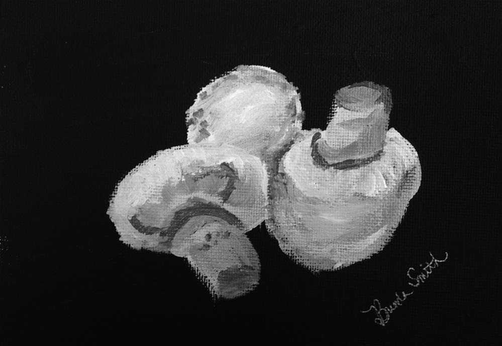 """Mushrooms"" original fine art by Brenda Smith"