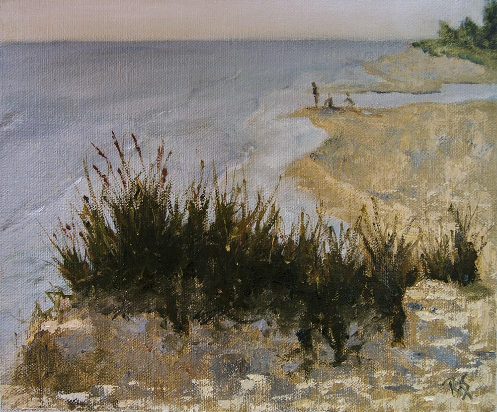 """Evening on the Shoreline"" original fine art by Rachel Steely"