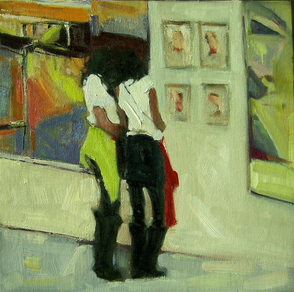 """Art Lovers"" original fine art by Kim Roberti"