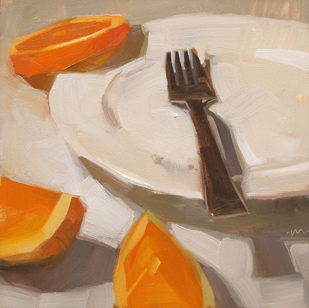 """Food Fight"" original fine art by Carol Marine"
