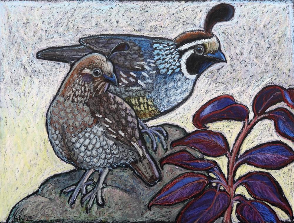 """""""Dawn Sentinels"""" original fine art by Ande Hall"""