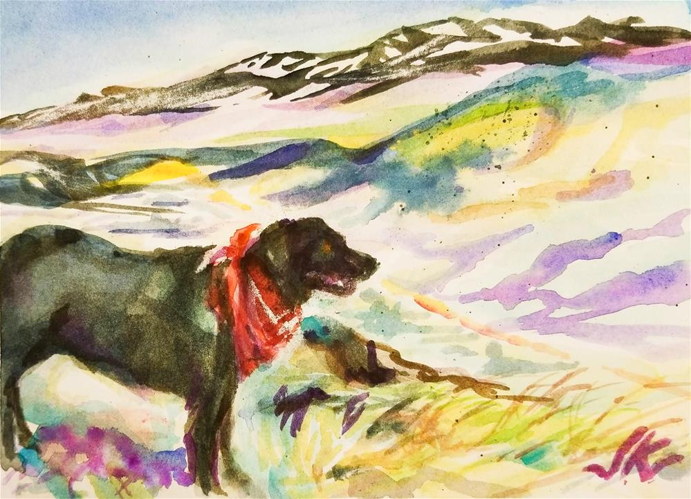 """Black Lab"" original fine art by Jean Krueger"
