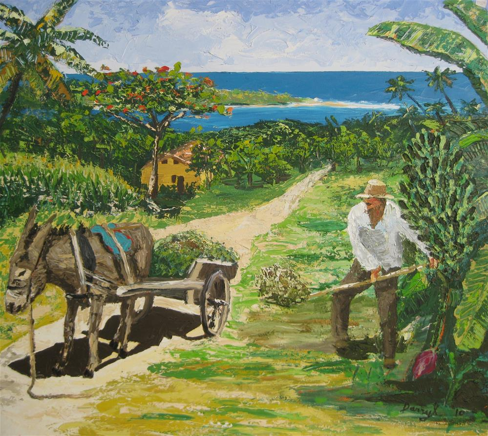 """Seaside Farm"" original fine art by Darryl Freeman"