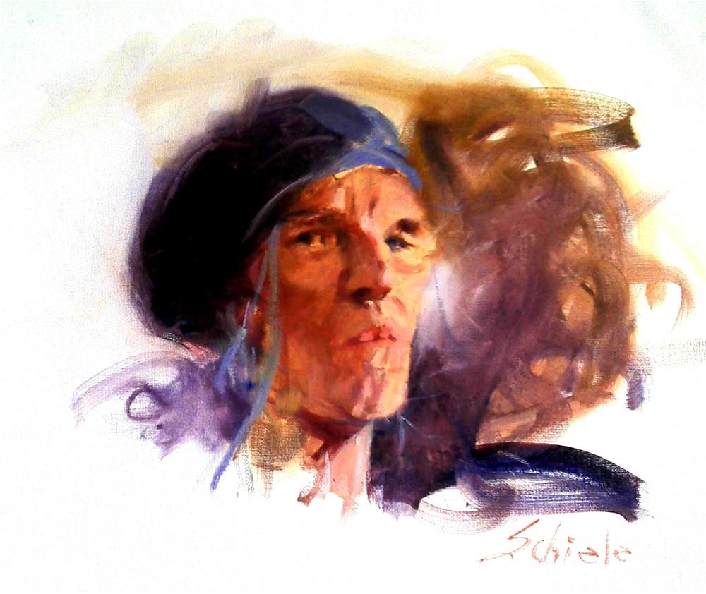 """artist and poet"" original fine art by Richard Schiele"
