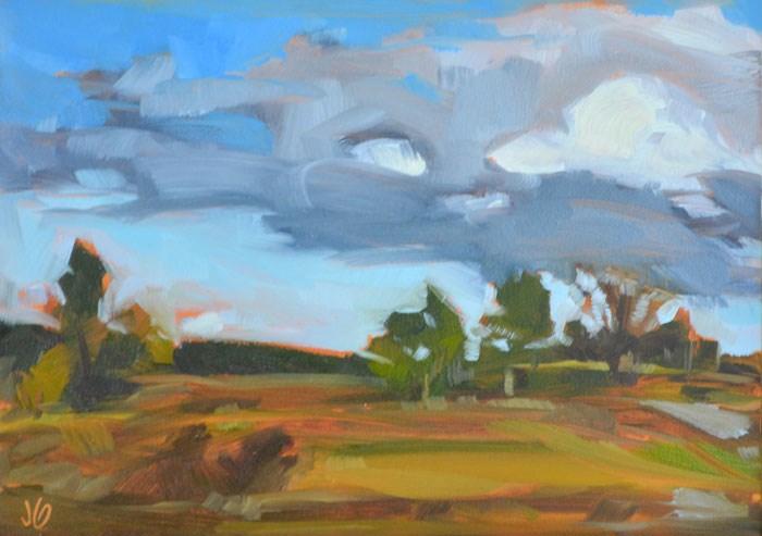 """Landscape color study"" original fine art by Jessica Green"