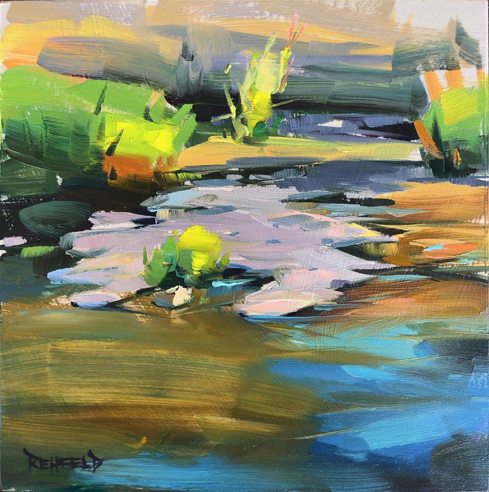 """Water in the High Desert"" original fine art by Cathleen Rehfeld"
