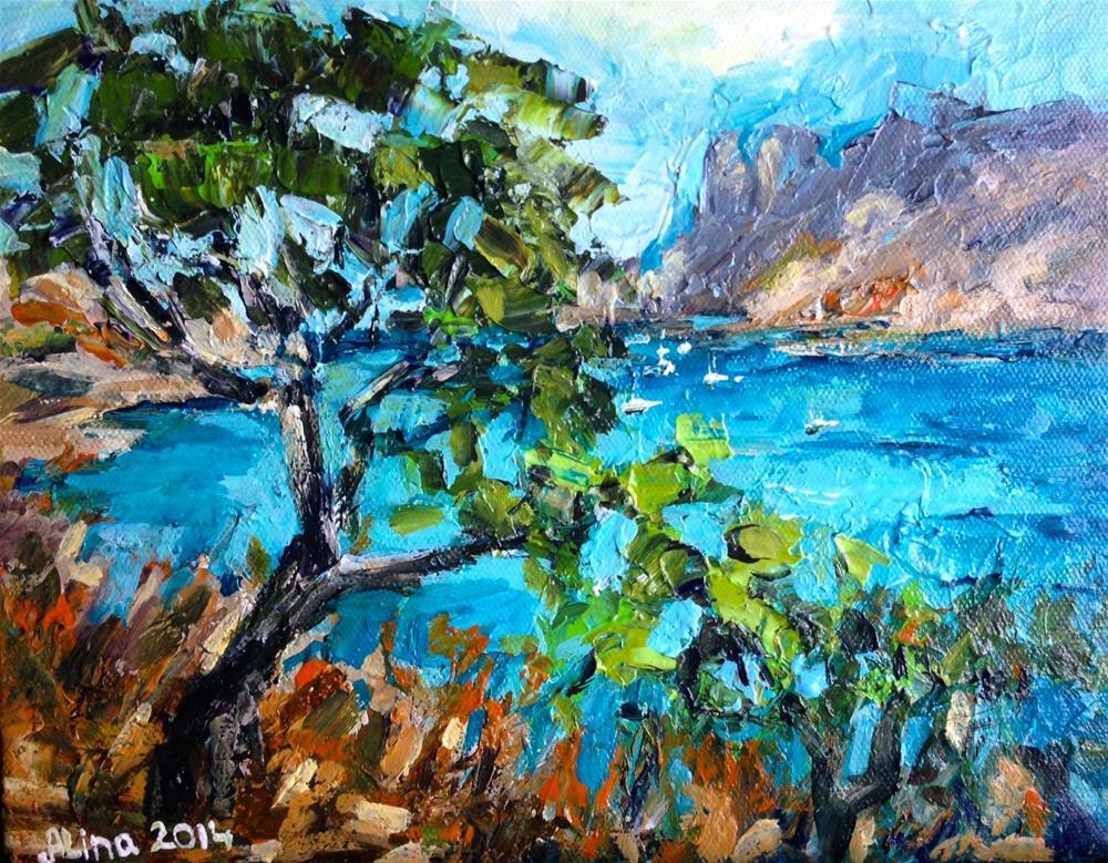"""""""View in the Calanques"""" original fine art by Alina Vidulescu"""