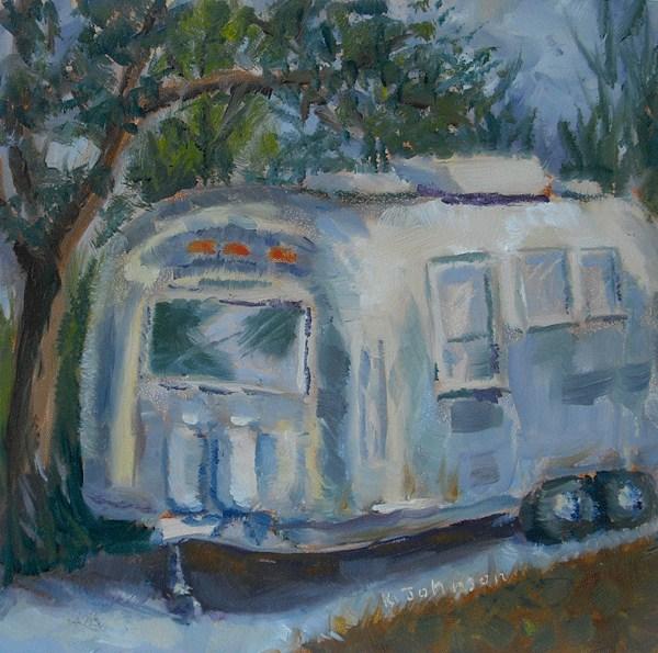 """Vintage Air Stream Dream"" original fine art by Kathy Johnson"