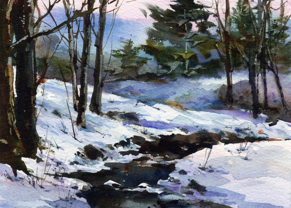"""One Winter Day"" original fine art by Linda Henry"
