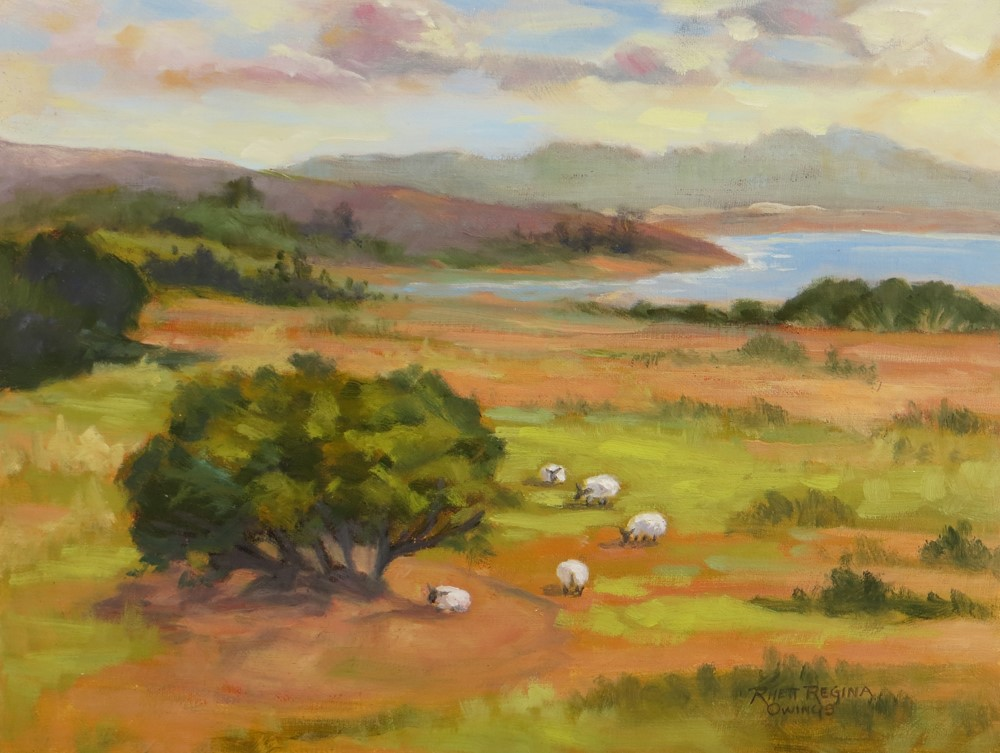 """A Field For Sheep"" original fine art by Rhett Regina Owings"