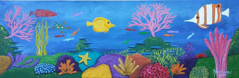 """Underwater Fun"" original fine art by Karleen Kareem"