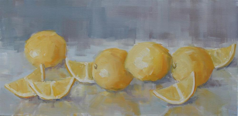 """with lemons...."" original fine art by Carol Carmichael"