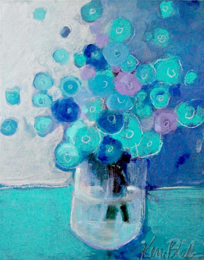 """Bouquet in Blue "" original fine art by Kerri Blackman"