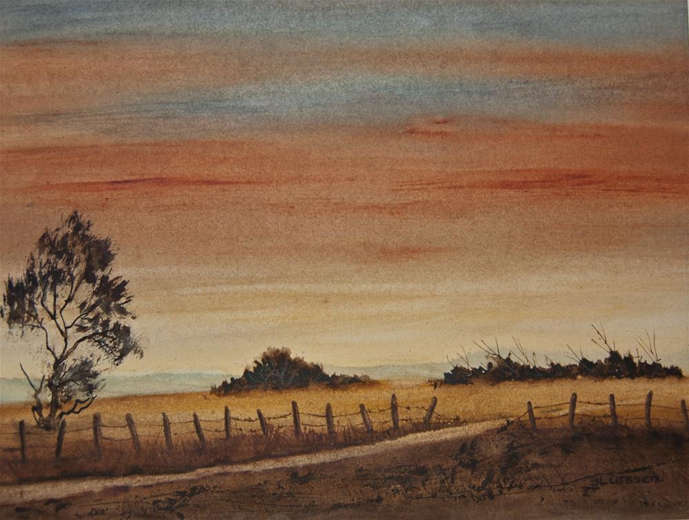 """Twilight Hour"" original fine art by Jean Lurssen"