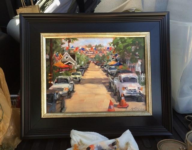 """""""Banner Day"""" original fine art by Karen Werner"""