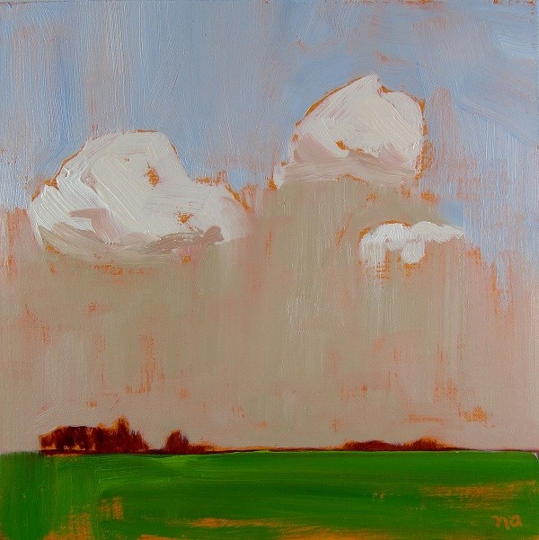 """The Green Field"" original fine art by Nicki Ault"