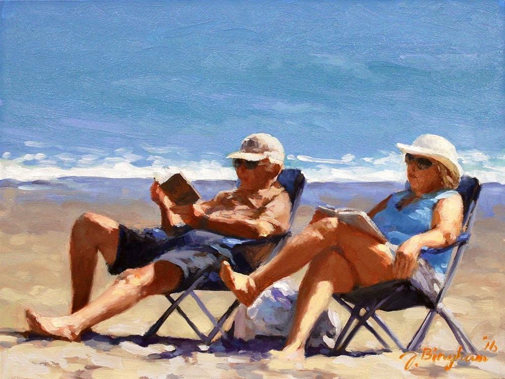 """Beach Couple Series-5"" original fine art by Joanna Bingham"