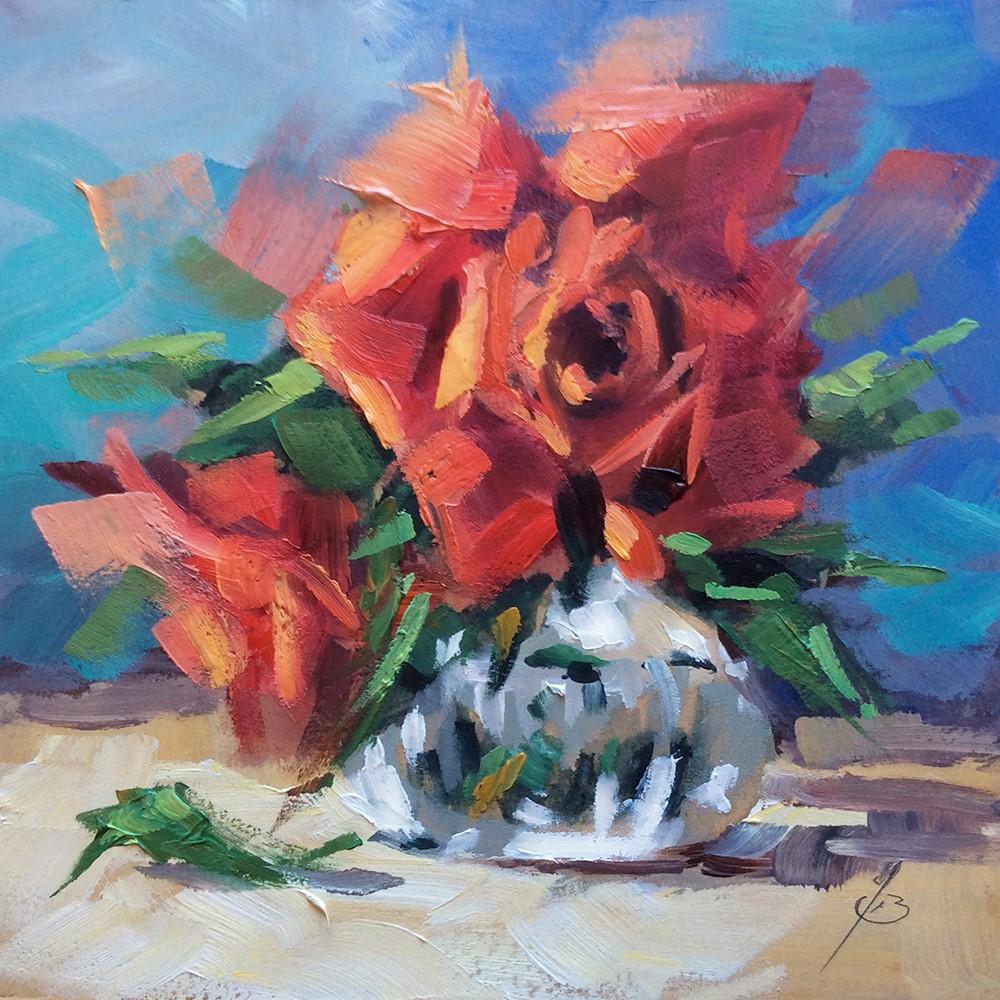 """THE MAGIC OF ROSES"" original fine art by Tom Brown"