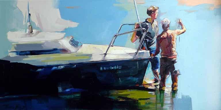 """Am See 3"" original fine art by Jurij Frey"