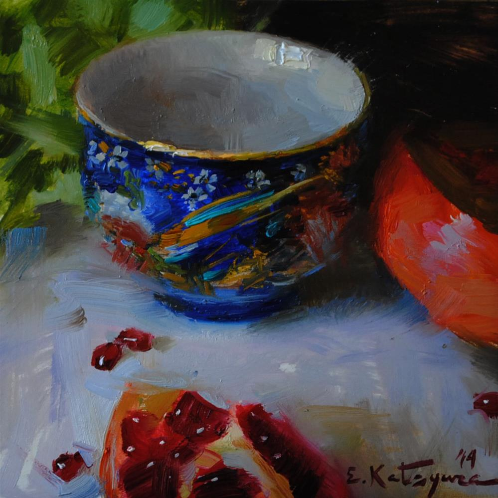 """Japanese Cup"" original fine art by Elena Katsyura"