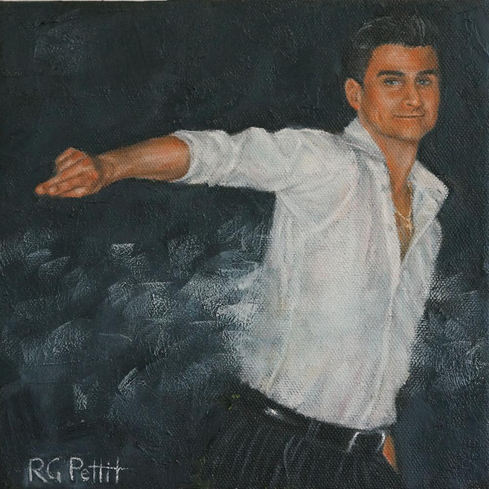 """""""Moves Like Jagger"""" original fine art by Rhea  Groepper Pettit"""
