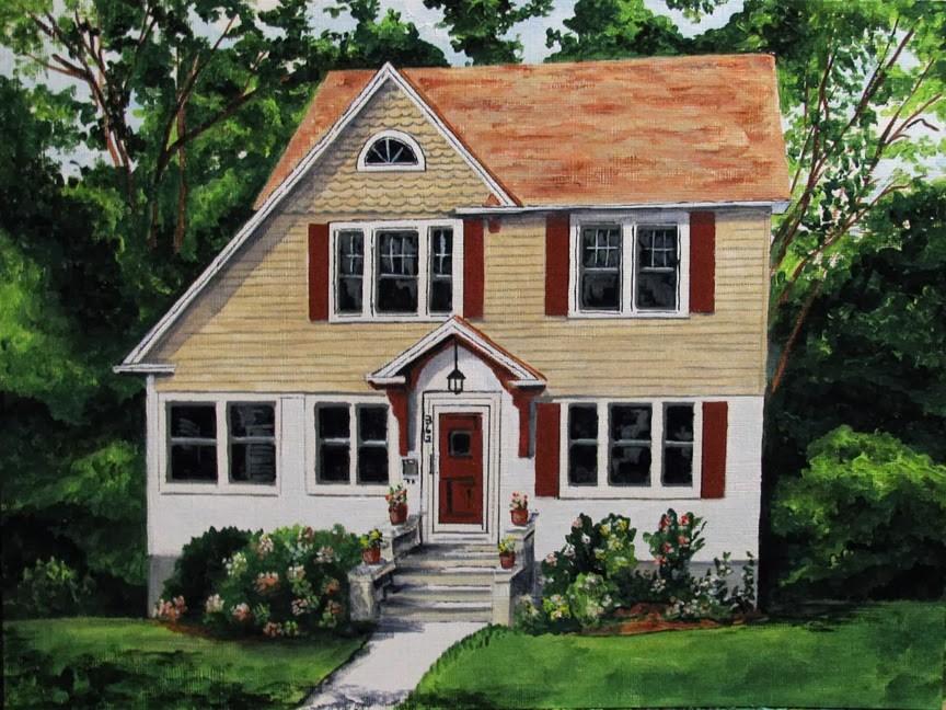 """""""Demarest Home"""" original fine art by Nan Johnson"""