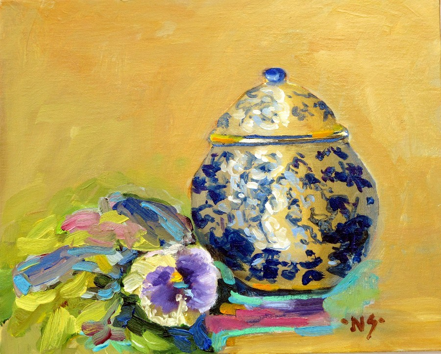 """Sugar Bowl, 12146"" original fine art by Nancy Standlee"