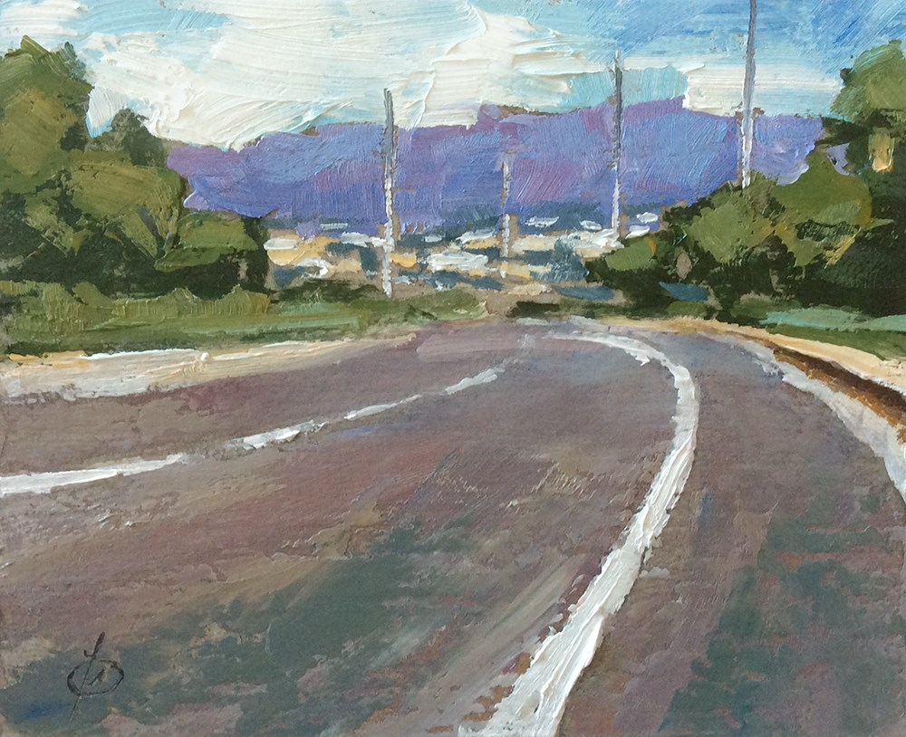 """""""THE ROAD TO FOOTHILL RANCH"""" original fine art by Tom Brown"""