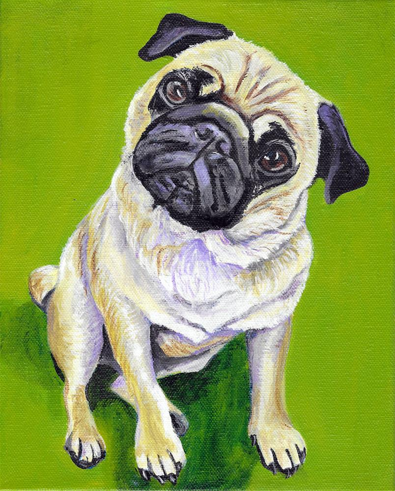 """Pug"" original fine art by Lisa Wiertel"