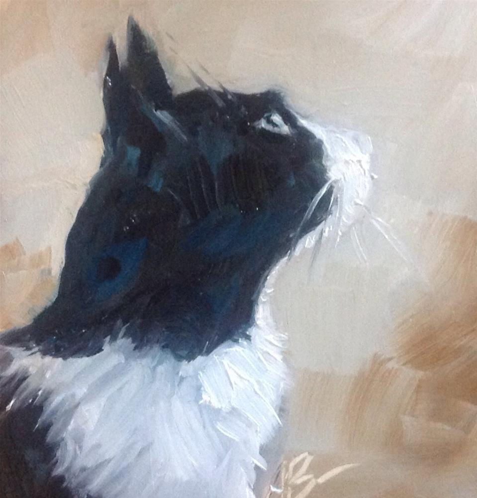 """Watchful Max"" original fine art by Annette Balesteri"