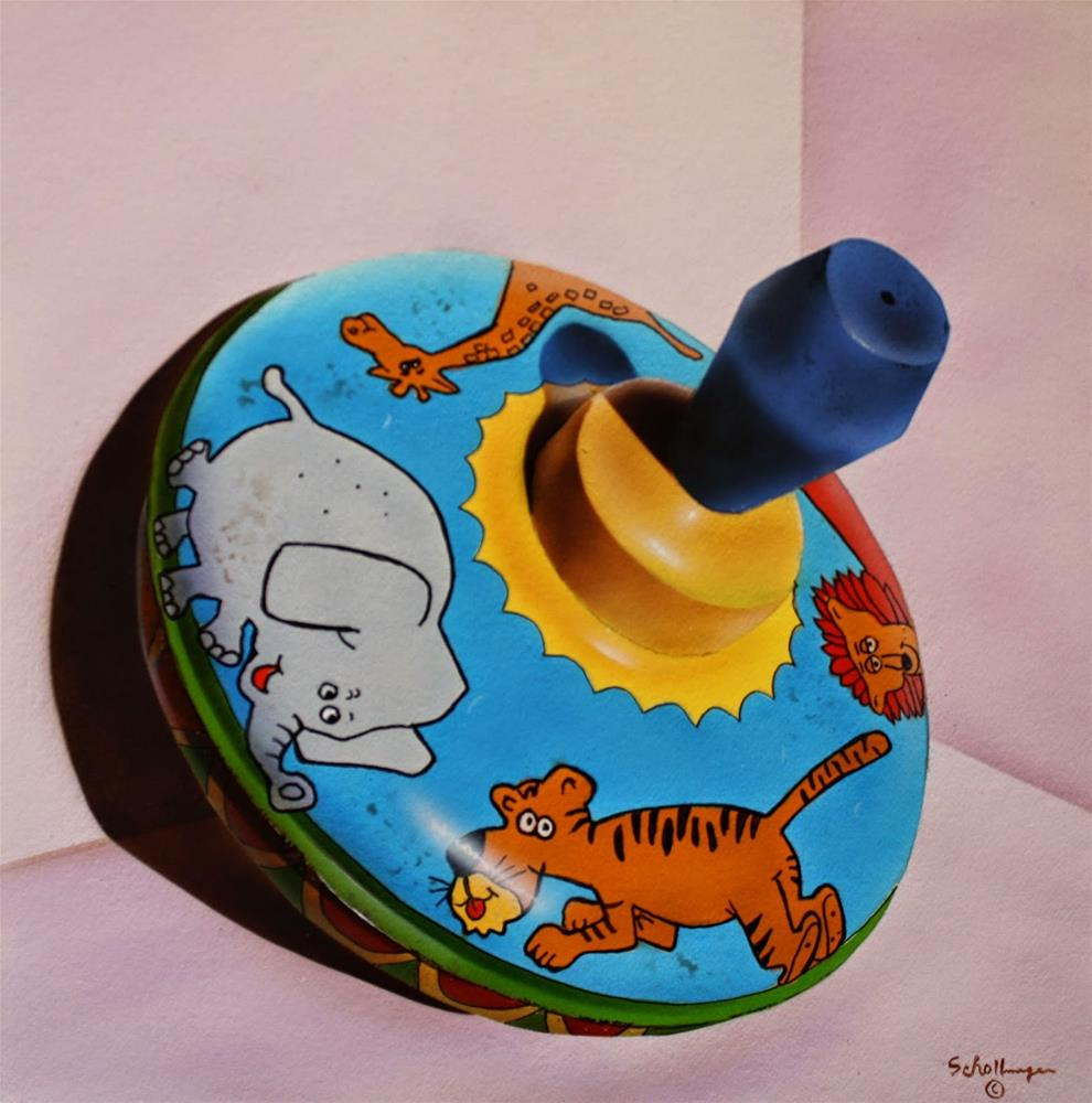 """Vintage Animal Spinner"" original fine art by Fred Schollmeyer"