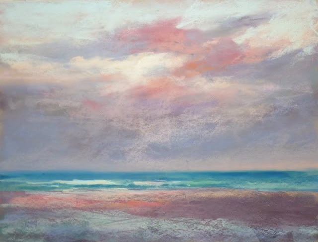 """Sky Painting Tip #4 Painting Large Skyscapes"" original fine art by Karen Margulis"