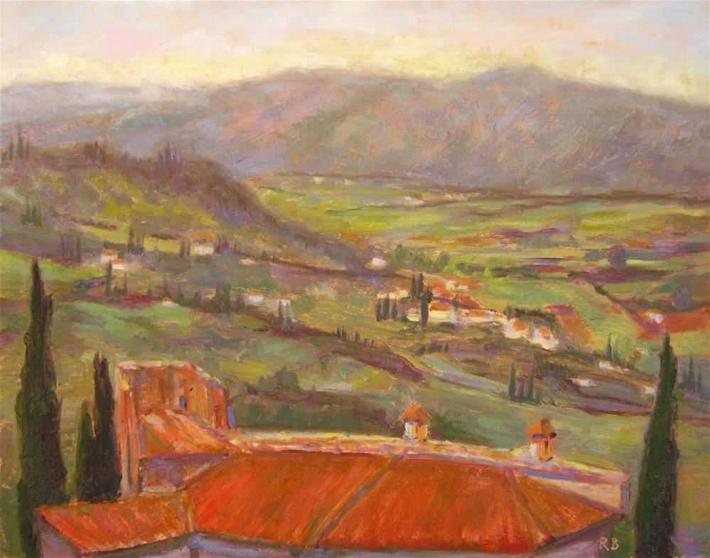 """Over the Italian Rooftops"" original fine art by Robie Benve"