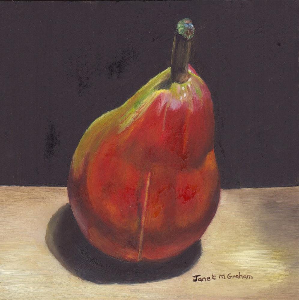 """Sensation Pear"" original fine art by Janet Graham"
