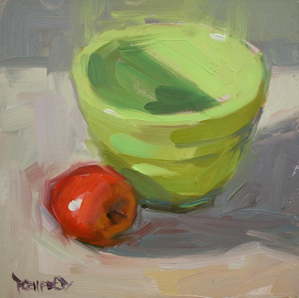 """Complements, Red and Green"" original fine art by Cathleen Rehfeld"