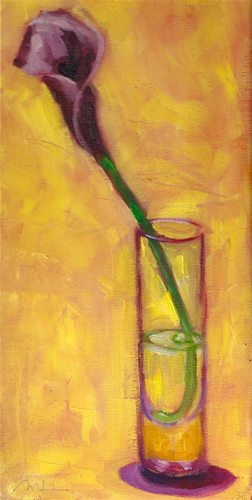 """Iris Study #2"" original fine art by Marlene Lee"