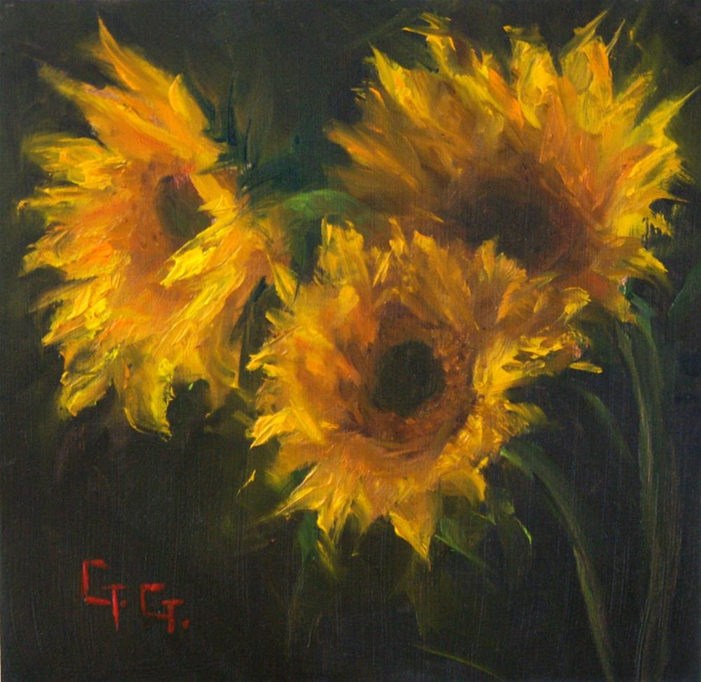 """Another Sunflower Painting"" original fine art by Gail G. Slockett"