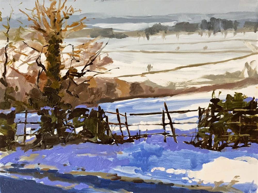 """""""Across the snowy fields"""" original fine art by Haidee-Jo Summers ROI"""