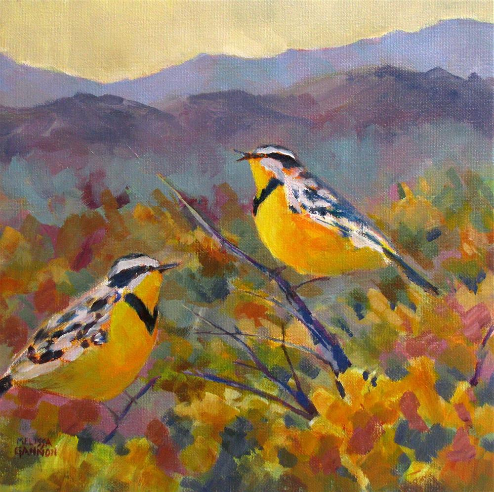 """Meadowlark Yellows"" original fine art by Melissa Gannon"