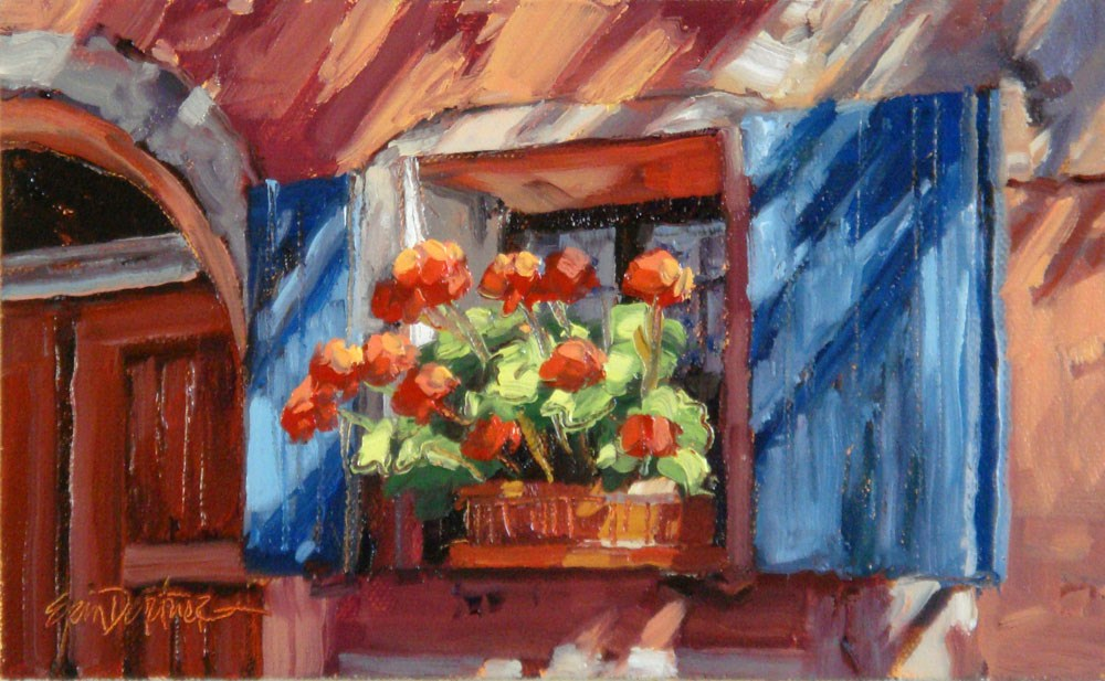 """""""Peachy Keen"""" original fine art by Erin Dertner"""