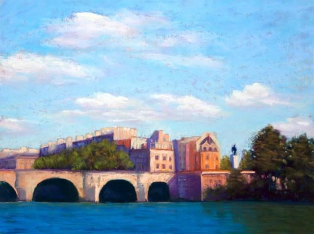 """Along the Seine"" original fine art by Sharon Lewis"