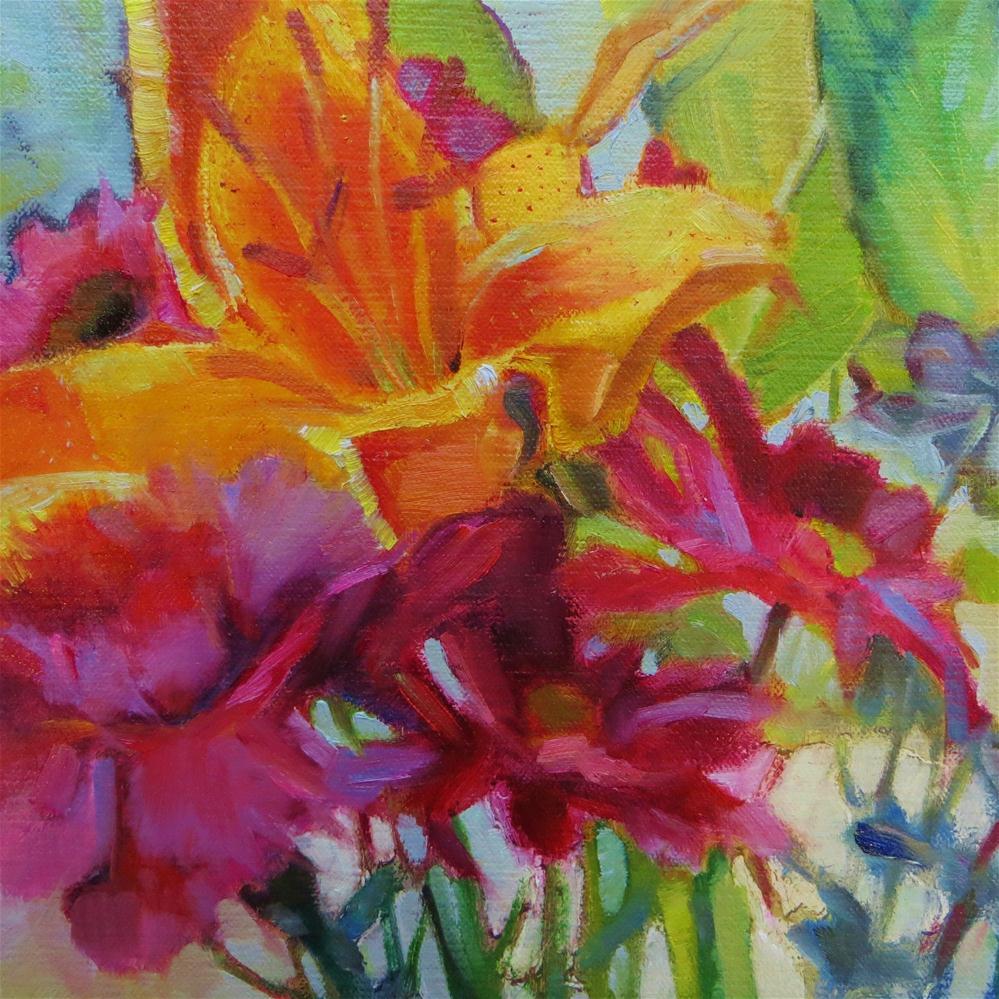 """""""Tiger Petals"""" original fine art by Scarlet Owl Studio"""