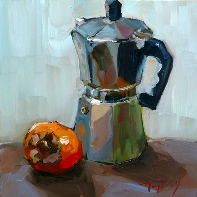 """""""Kaffeekocher"""" original fine art by Jurij Frey"""