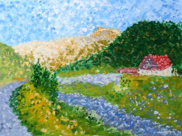 """""""Mark Webster - Untitled Landscape Acrylic Painting"""" original fine art by Mark Webster"""
