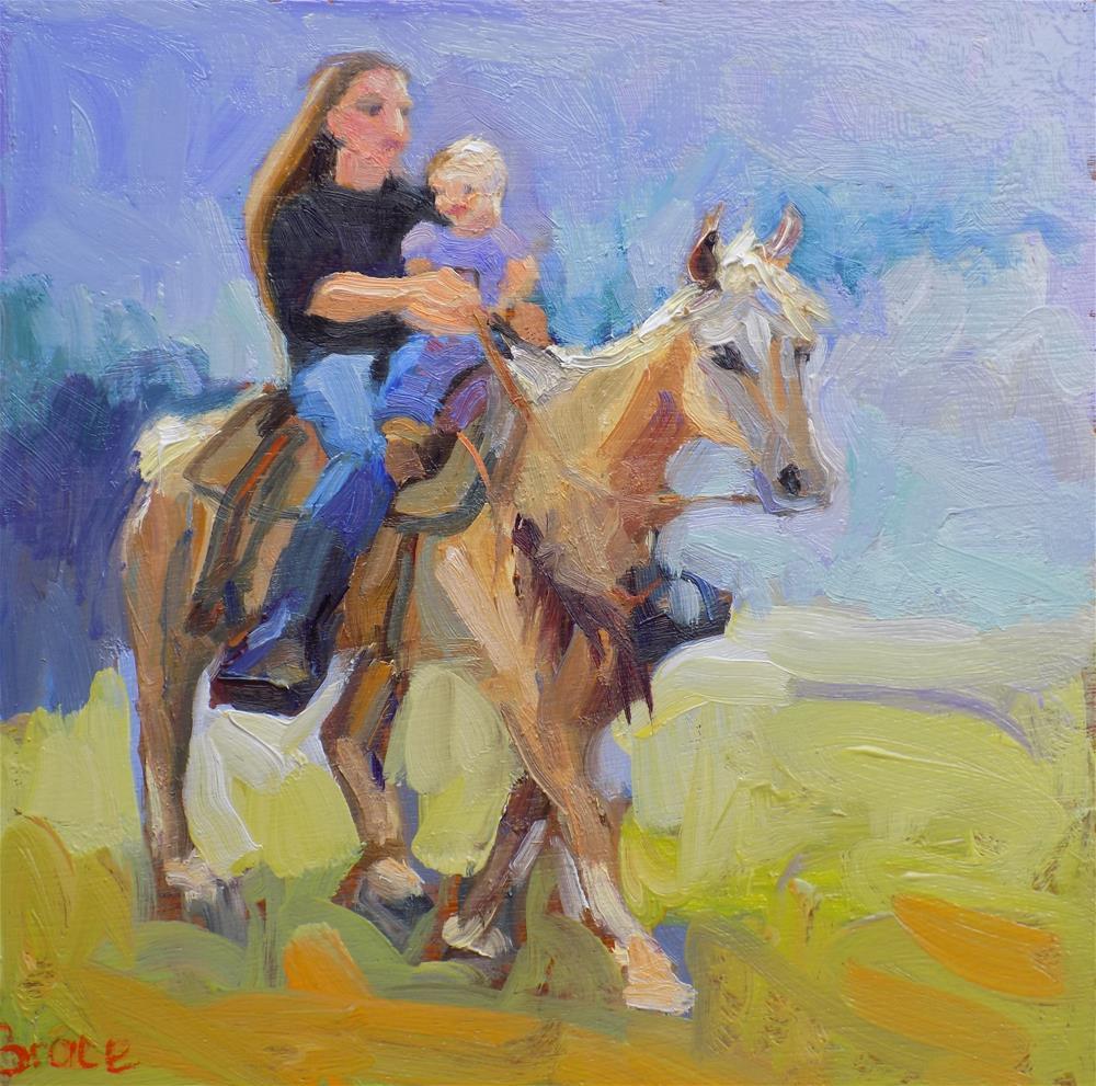 """The Harrah Parade"" original fine art by Rita Brace"