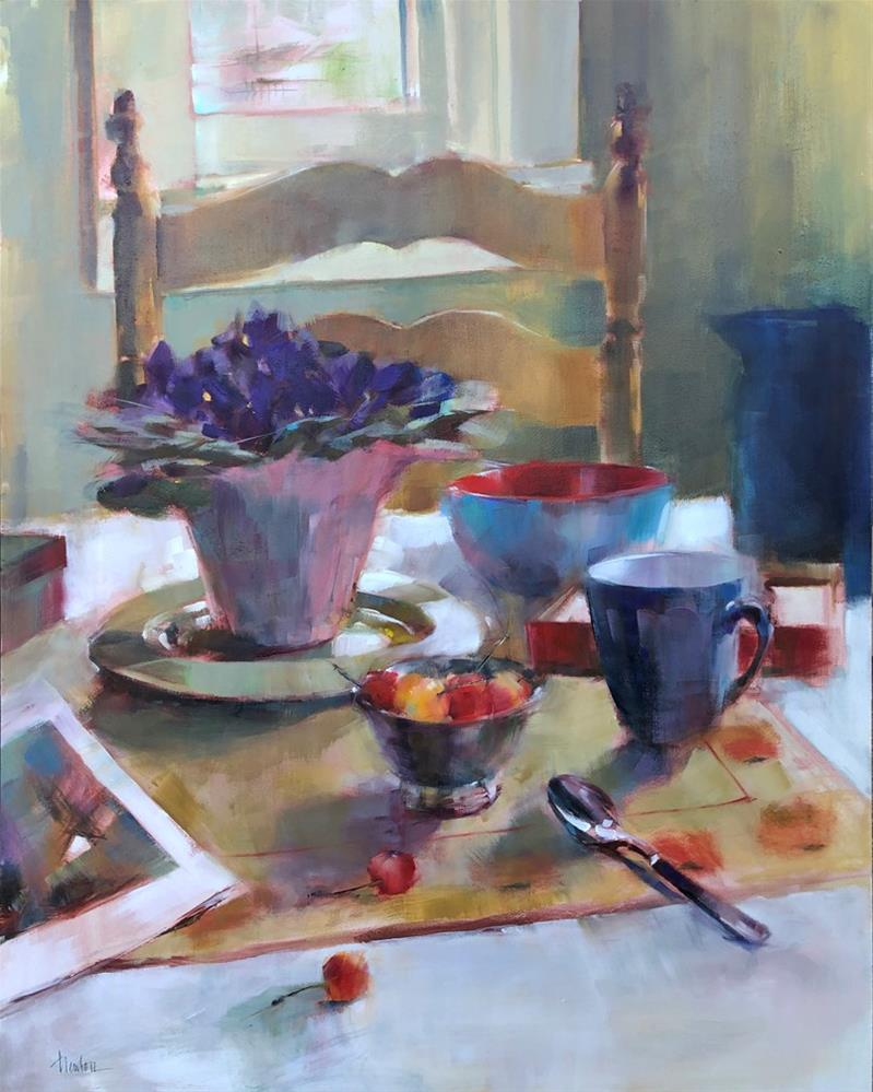 """""""Kitchen Table"""" original fine art by Barbara Benedetti Newton"""
