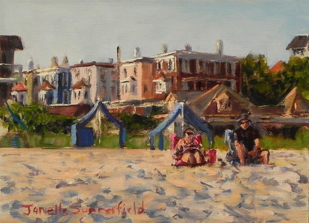 """Cape May Beach Afternoon"" original fine art by Jonelle Summerfield"