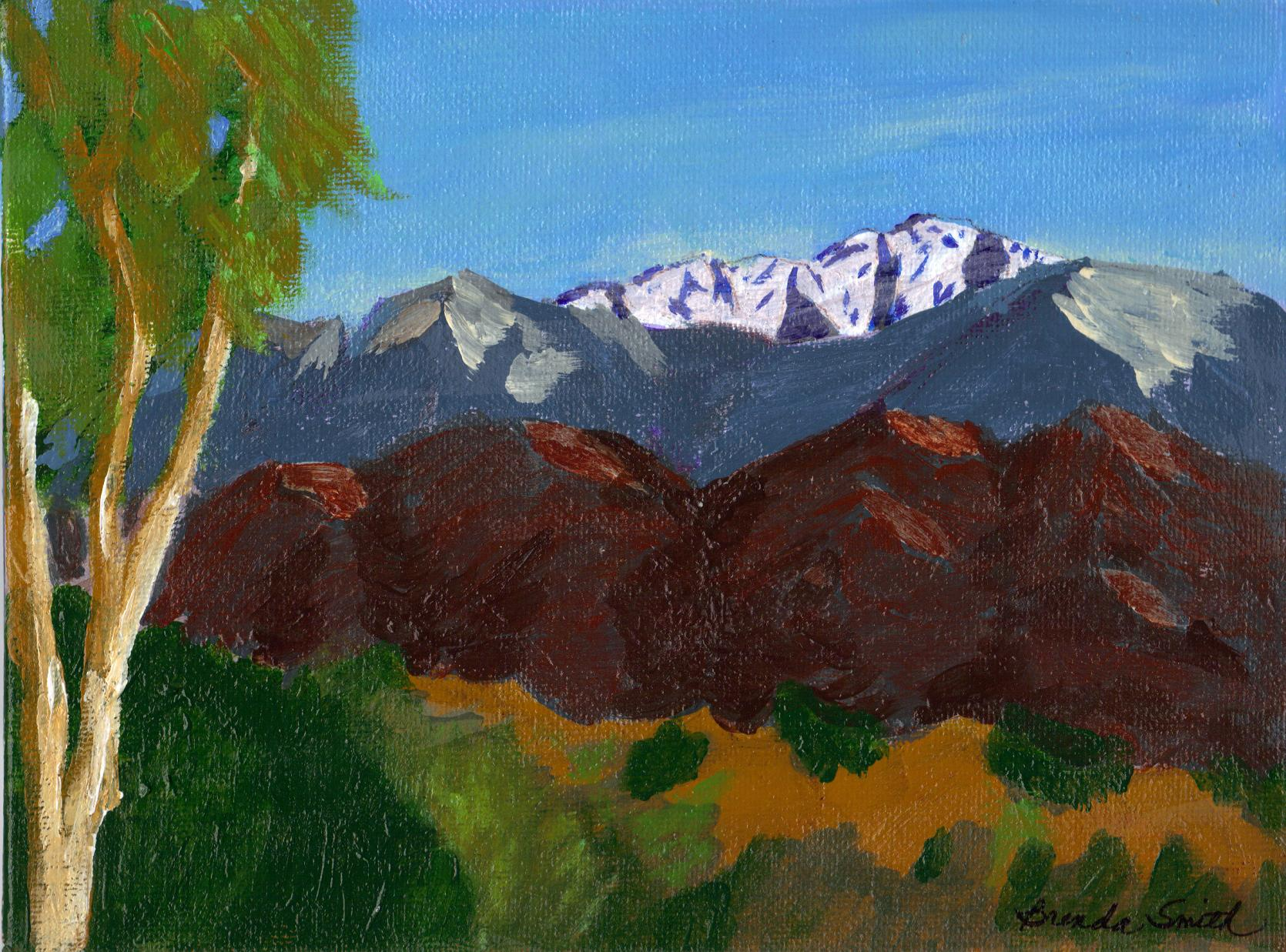 """""""Mountain View to South West"""" original fine art by Brenda Smith"""