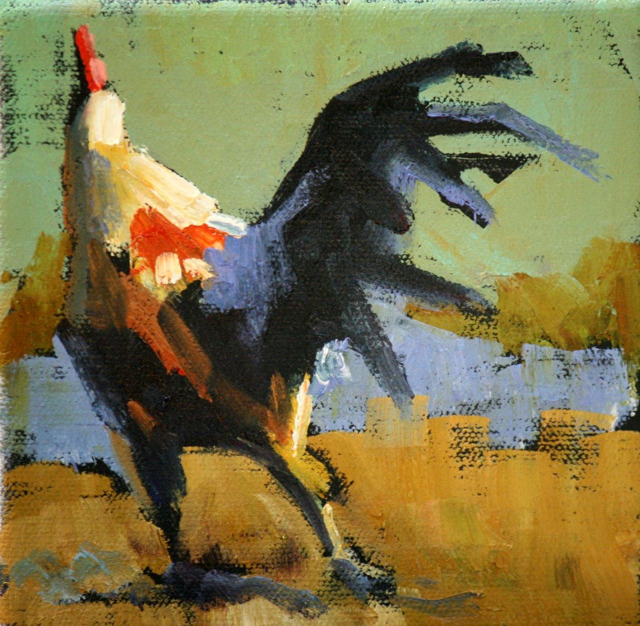"""go"" original fine art by Carol Carmichael"